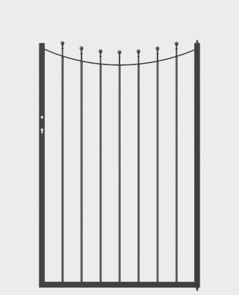 Beispielgartentor in U-Form
