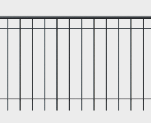 Geländer Ancona mit Handlauf - gerade Form