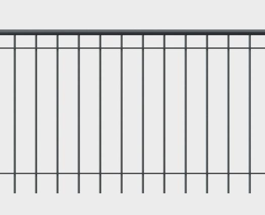 Geländer Bologna mit Handlauf - gerade Form