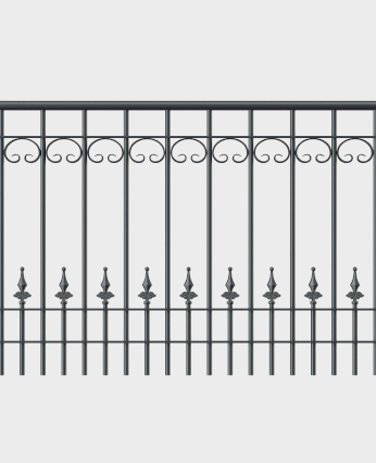 Geländer Lucca mit Handlauf - gerade Form